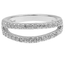 1x 925 Sterling Silver + CZ Crystal Set Eternity Ring Size P + gift bag