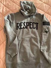 "UA Project Rock ""Respect"" Hoodie NWT Size LG Sweatshirt Gray Black"