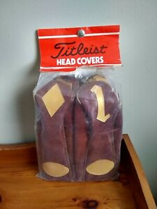 Vintage Titleist Golf Clubs Headcovers - Set of 4 - New