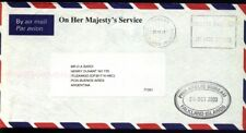 FF-23 FALKLAND-MALVINAS 2000 COVER TO BSAS ARGENTINA OHMS (SMALL LETTERS)