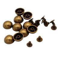 20 Set Pilzform Schrauben Nieten 12mm Schraubnieten Ziernieten Leder Reparatur