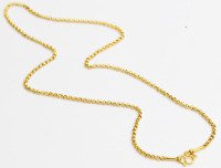 "22K 22kt gold rolo kid baby chain / necklace handmade from Thailand 16""     #b1"