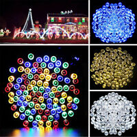 Solar Powered 100 300 LED String Fairy Lights Garden Outdoor Lamp Waterproof