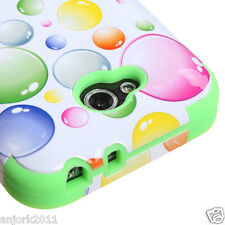 LG OPTIMUS L90 D415 TMOBILE METRO HYBRID T ARMOR CASE SKIN COVER RAINBOW BUBBLES