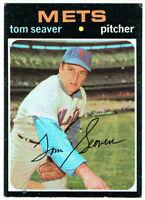 1971 Topps Tom Seaver #160 New York Mets EXCELLENT EX Baseball Card HOF All-Star