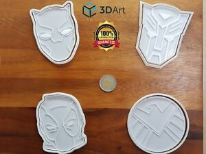 Superhero Cookie Cutter Mold Fondant Biscuit Decor Cupcake Pastry Play Doh Bake