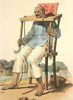 1814 William Alexander Antique Steel Engraving of China - Punishments
