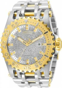 Invicta Res Chaos Polished SS Pave Diamond Swiss Automatic Watch 32042