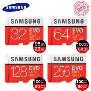 Samsung Evo Plus 32GB 64 Go 128GB Classe 10 Tf 4K Micro SDHC XC Carte Mémoire