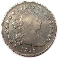 1795 Draped Bust Silver Dollar $1 - VG Details (Cleaned / Smoothed) - Rare Coin!