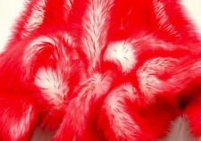"Faux Fur fake red Frosted tips fabric 60"" Wide sold by the yard upholstery"