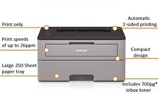 Brother HL-L2300D Monochrome Laser Printer with Duplex Printing 27 ppm USB  NEW