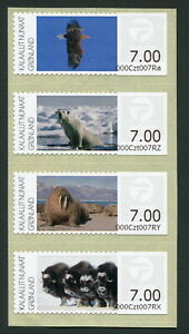 Greenland Pre-paid Franking Labels 2011 Fauna Animals MNH Complete Set in Block