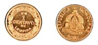 Twenty Five (25) Honduras 1 Centavo Uncirculated Bronze 1974 Coins KM 77a
