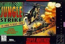 JUNGLE STRIKE SNES SUPER NINTENDO GAME COSMETIC WEAR