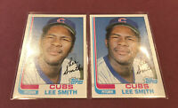 1982 Topps #452 Lee Smith RC Rookie Cubs ~ Free Shipping ~ Lot of (2)
