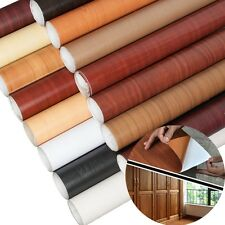 10M Wall Wood Grain Mural Decal Self Adhesive PVC Wallpaper Film Sticker Decor