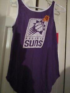 NEW NBA Phoenix Suns Women's Purple Cross Back Tank Top M Medium