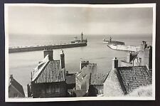 WHITBY East & West Piers VINTAGE 1952 PHOTOGRAPH 13.5cm x 8.5cm From CHURCH 335
