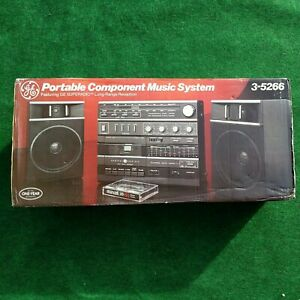 Rare Vintage NOS  GE 3-5266  AM/FM Radio Dual Cassette Player True Super Radio