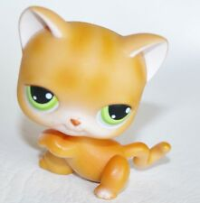 Littlest Pet Shop Cat Shorthair #11 Orange With Green Eyes Lps