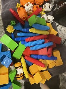 1970s Vintage Tupperware Tuppertoys Blocks Alphabet & Tomy POPOIDS Fidget Toys