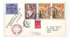 HH85 France 1971 Le Havre Cover Italy Genova Post Strike {samwells-covers}PTS