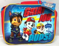 Kids Boys Nickelodeon Paw Patrol Pups Characters Insulated Polyester Lunch Bag