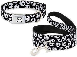 Buckle Down Seat Belt Dog Collar or Leash - Jack Nightmare Christmas - Halloween