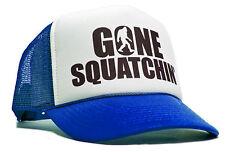 Gone Squatchin Trucker Hat Navy Blue Mesh Cap Adjustable Bigfoot Funny Men Party