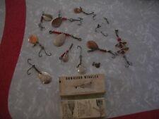 Vintage Hawaiian Wiggler Lure Lot & 2 vintage boxes