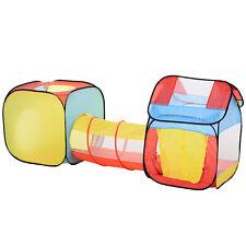 HOMCOM  Tenda Gioco per Bambini 3+ con Tunnel e Casetta (230x70x89cm)
