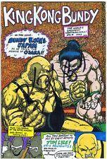 king kong bundy signed autographed comic book wcoa wwe wwf
