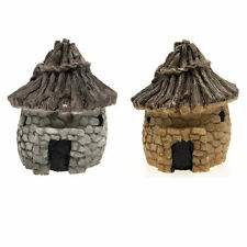 2PCS Miniature Flower Fairy Stone House Dolls house Craft Garden DIY Kits Decor
