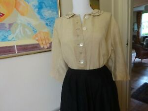 Vintage pure silk blouse~tunic style~hand embroidered