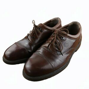 Clarks Mens Brown Leather Lace Up Shoes Size UK 10.5