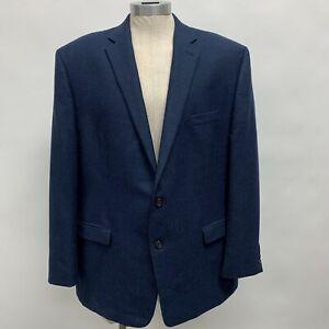 Lauren Ralph Lauren Men's Blazer Jacket Size 50R Blue 100% Wool Plaid