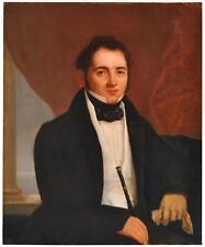 Portrait de gentilhomme à l'huile sur toile XIXème