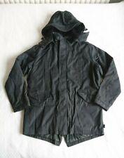 EASTPAK Mens Size M Black Parka Parker Mid Length Hooded Detachable Hood Coat