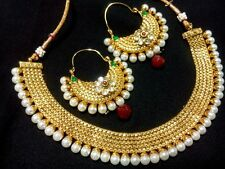 Indian Fashion jewelry Necklace Earrings Exclusive bollywood ethnic traditional