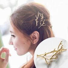 Women Metal Tree Branch Hairpins Barrette Hair Clip Jewelry Bobby Pin Fashion