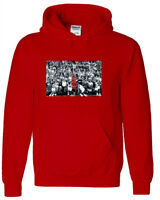 "RED Michael Jordan Chicago ""THE SHOT"" HOODED SWEATSHIRT"