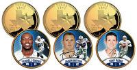 DALLAS COWBOYS Texas State Quarters 3-Coin Set 24K Gold (Romo, Witten, Owens)
