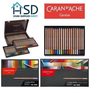 Caran d'Ache Dry Pastel Pencils Sets of 12 / 20 / 40 / 76 Assorted Colours NEW