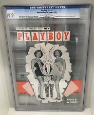 **CGC 6.0 FINE** JANUARY 1954 PLAYBOY MAGAZINE V1 #2 OW/WHTE PAGES EXCELLENT!!