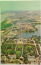 Aerial View of Louisiana State Capitol ~ Baton Rouge, LA Vintage Postcard UNUSED