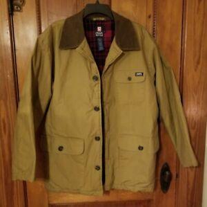 Chaps RALPH LAUREN Mens Size M - Plaid Flannel Lined - Barn Chore Coat Jacket
