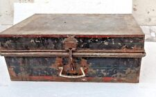 Vintage Old Iron Sheet Hand Crafted Painted Merchant/Trunk Box India
