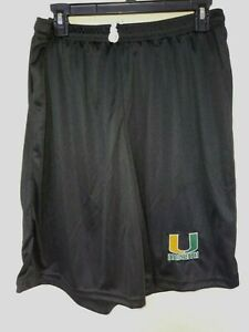 0724 BOYS YOUTH MIAMI HURRICANES Polyester Jersey SHORTS Embroidered BLACK New