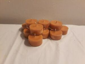24 TEA LIGHTS  IN AUTUMN SCENTS  HIGHLY SCENTED HANDMADE